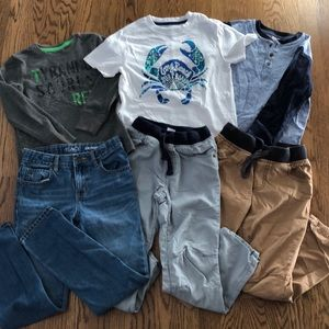 3 outfit size 7 shirts/pants boys